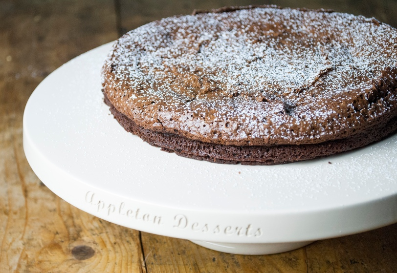 Chocolate cake on Platter