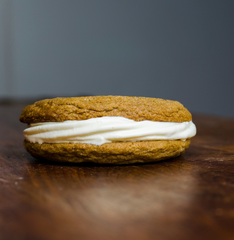 Molasses Cookie Ice Cream Sandwiches
